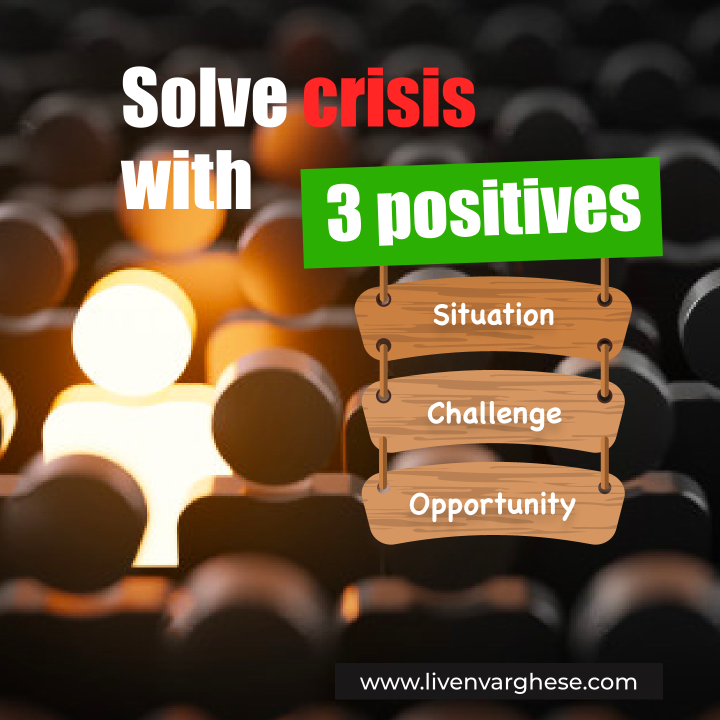 Solve Crisis with 3 positive Words